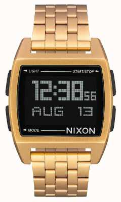 Nixon ベース|オールゴールド|デジタル|ゴールドIPスチールブレスレット A1107-502-00