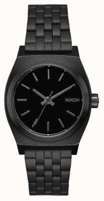 Nixon ミディアムタイムテラー|オールブラック|ブラックIPスチールブレスレット|黒の文字盤 A1130-001-00
