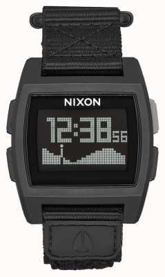 Nixon ベースタイドナイロン 余剰 デジタル グリーンナイロンストラップ A1169-1085-00