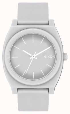 Nixon タイムテラーp  マットクールグレー グレーのシリコンストラップ グレーの文字盤 A119-3012-00