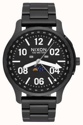 Nixon アセンダー 黒/ラム ブラックIPスチールブレスレット 黒の文字盤 A1208-2474-00