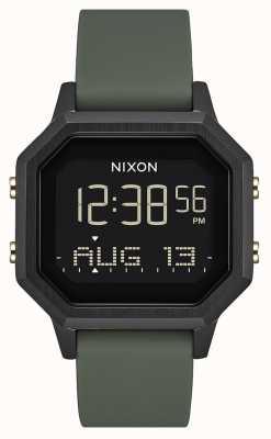 Nixon サイレンss  黒/倦怠感 デジタル ブラックシリコン  A1211-178-00