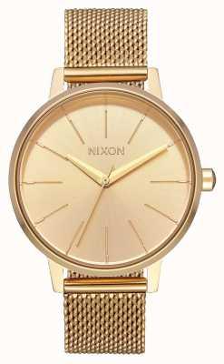 Nixon ケンジントンミラネーゼ オールゴールド ゴールドIPスチールメッシュ ゴールドダイヤル A1229-502-00