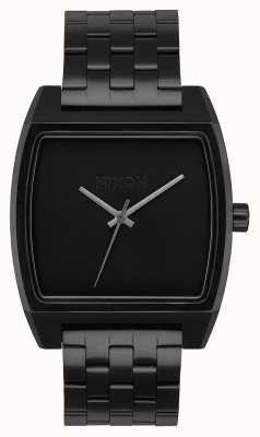 Nixon タイムトラッカー オールブラック ブラックIPスチールブレスレット 黒の文字盤 A1245-001-00