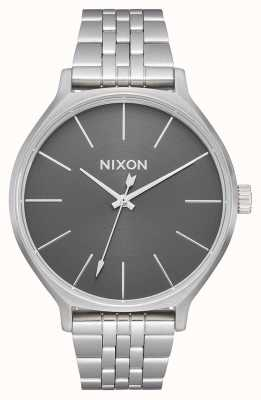 Nixon クリーク オールシルバー/グレー ステンレス鋼のブレスレット シルバーダイヤル A1249-2762-00