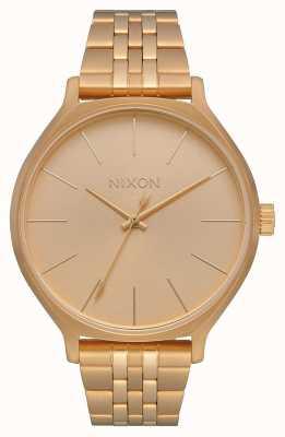 Nixon クリーク オールゴールド ゴールドIPスチールブレスレット ゴールドダイヤル A1249-502-00