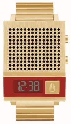 Nixon ドークも|オールゴールド|デジタル|ゴールドIPスチールブレスレット|話している A1266-502-00
