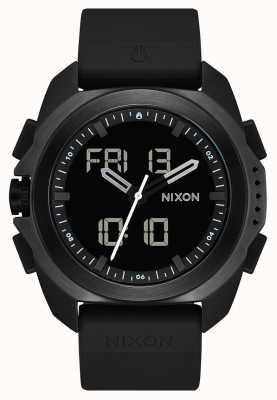 Nixon リプリー|黒|デジタル|黒のtpuストラップ| A1267-000-00