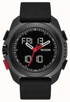 Nixon リプリー|黒/赤/レコ|デジタル|黒のtpuストラップ| A1267-3251-00