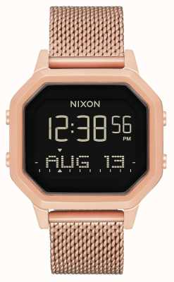 Nixon サイレンミラネーゼ|オールローズゴールド|デジタル|ローズゴールドIPスチールメッシュ| A1272-897-00