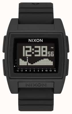 Nixon ベースタイドプロ 黒 デジタル 黒のシリコンストラップ  A1307-000-00
