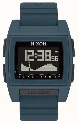 Nixon ベースタイドプロ ダークスレート デジタル スレートカラーのシリコンストラップ A1307-2889-00