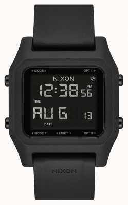 Nixon ステープル|黒|デジタル|黒のシリコンストラップ A1309-000-00