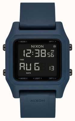 Nixon ステープル|ダークスレート|デジタル|スレートカラーのシリコンストラップ A1309-2889-00
