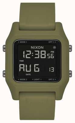 Nixon ステープル|オリーブ|デジタル|オリーブグリーンのシリコンストラップ A1309-333-00
