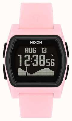 Nixon ライバル|ピンク/ブラック|デジタル|ピンクのシリコーンストラオ A1236-2531-00