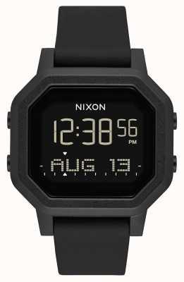 Nixon サイレン|オールブラック|デジタル|黒のシリコンストラップ A1311-001-00