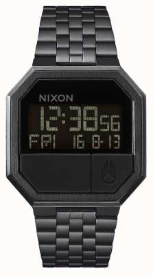 Nixon 再実行|オールブラック|デジタル|ブラックIPスチールブレスレット A158-001-00