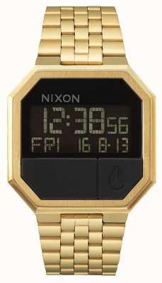 Nixon 再実行|オールゴールド|デジタル|ゴールドIPスチールブレスレット A158-502-00