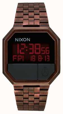 Nixon 再実行|アンティーク銅|デジタル|銅色のipスチールブレスレット A158-894-00