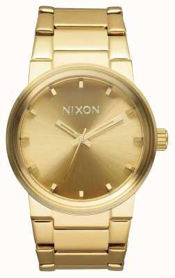 Nixon キャノン|オールゴールド|ゴールドIPスチールブレスレット|ゴールドダイヤル A160-502-00