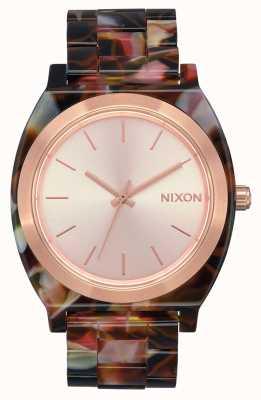 Nixon タイムテラーアセテート ローズゴールド/ピンクのカメ ローズゴールドの文字盤 A327-3233-00