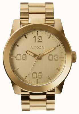 Nixon Corporal ss |オールゴールド|ゴールドIPスチールブレスレット|ゴールドダイヤル A346-502-00