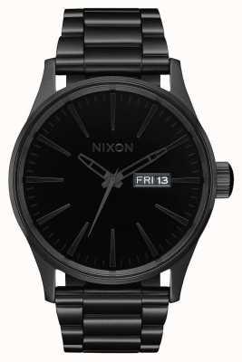 Nixon セントリーss |オールブラック/ブラック|ブラックIPスチールブレスレット|黒の文字盤 A356-1147-00