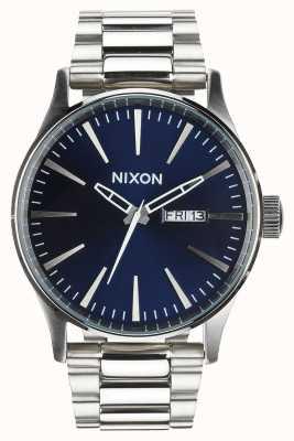 Nixon セントリーss |ブルーサンレイ|ステンレス鋼のブレスレット|青い文字盤 A356-1258-00