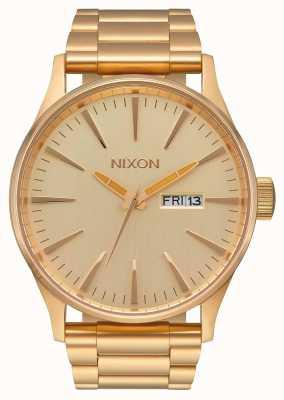 Nixon セントリーss |オールゴールド|ゴールドIPスチールブレスレット|ゴールドダイヤル A356-502-00