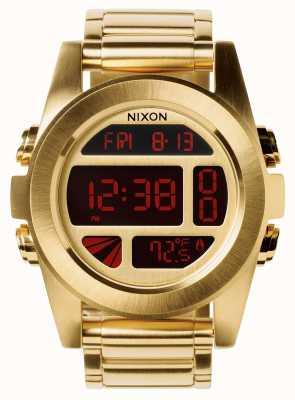 Nixon 単位ss |オールゴールド|デジタル|ゴールドIPスチールブレスレット| A360-502-00