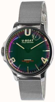 U-Boat Darkmoon38mmブラックssメタルブレスレット 8471/MT
