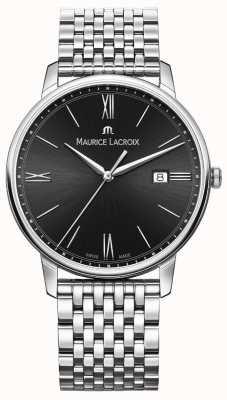 Maurice Lacroix メンズエリロ|ステンレス鋼のブレスレット|黒の文字盤 EL1118-SS002-310-2