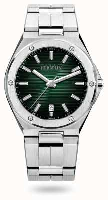 Michel Herbelin カップカマラクォーツ|ステンレス鋼のブレスレット|緑の文字盤 12245/B16
