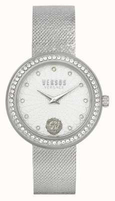 Versus Versace |レディース|リー|ステンレス鋼|メッシュブレスレット|シルバーダイヤル| VSPEN1420