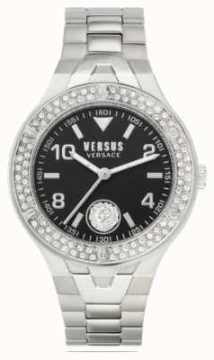 Versus Versace 女性のビットリア|ステンレス鋼のブレスレット|黒の文字盤 VSPVO0520