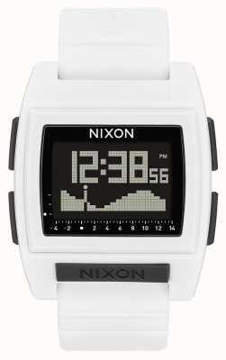 Nixon ベースタイドプロ|白|デジタル|白いシリコンストラップ A1212-100-00