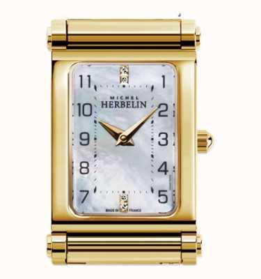 Michel Herbelin アンタレス|金メッキの時計の文字盤のみ|長方形ダイヤル H.17048/P79