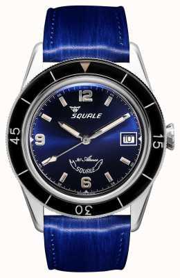 Squale 60年ブルー|サブ39 |ブルーレザーストラップ|ブルーダイヤル SUB39BL-CINSQ60BL
