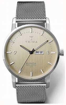 Triwa メンズバーチクリンガスチールメッシュ|シャンパンダイヤル KLST108-ME021212