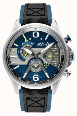 AVI-8 ホーカーハリアーII |クロノグラフ|ブルーダイヤル|ブルーレザーブラックナトストラップ AV-4056-01