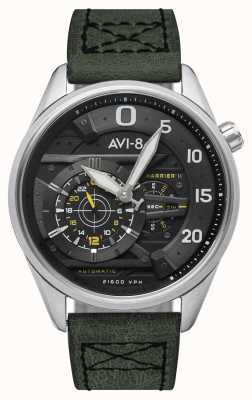 AVI-8 Hawker harrierii-スペードのエース|自動|グリーンレザーストラップ AV-4070-01
