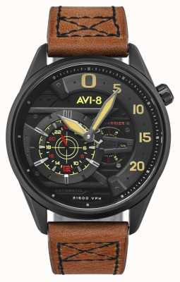 AVI-8 Hawker harrierii-スペードのエース|自動|ブラウンレザーストラップ AV-4070-04