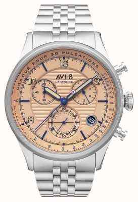 AVI-8 フライボーイラファイエット|クロノグラフ|ステンレス鋼のブレスレット AV-4076-44