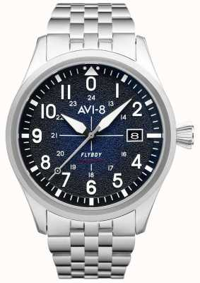 AVI-8 フライボーイ|自動|ブルーダイヤル|ステンレス鋼のブレスレット AV-4075-22