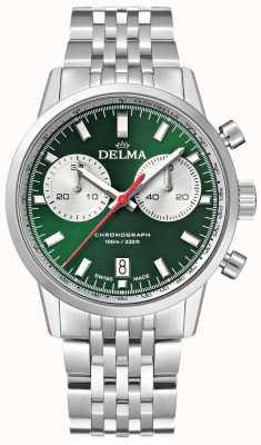 Delma コンチネンタルクロノグラフ|ステンレス鋼のブレスレット|緑の文字盤 41701.704.6.141