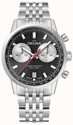 Delma コンチネンタルクロノグラフ|スチールブレスレット|黒の文字盤 41701.704.6.031