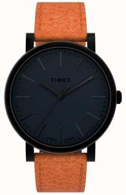 Timex オリジナル42mm |黒の文字盤|タンレザーストラップ TW2U05800