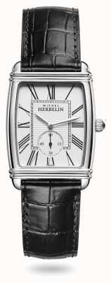 Michel Herbelin レディース|アールデコ|シルバーダイヤル|ブラックレザーダイヤル 10638/08