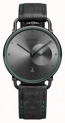 Baume & Mercier ボーム|環境にやさしいクォーツ|グレーの文字盤|黒のコルクストラップ M0A10599